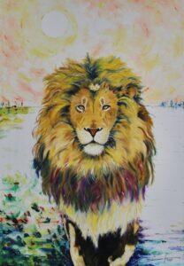 Pintura leones